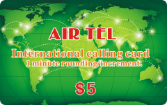 Paper Air Tel International Calling Card Printing