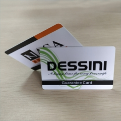 PVC Dessini Guarantee Card Printing