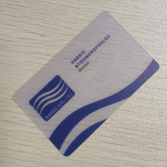 PVC Transparent Loyalty Card Printing